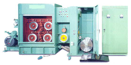 Photo of a Fine Copper Wire Drawing Machine