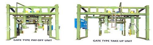 Photo of a Gate Type Pay-Off / Take-up